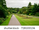 central alley with flower beds...   Shutterstock . vector #728103136