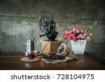 coffee in the morning. still... | Shutterstock . vector #728104975