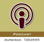 podcast vector icon | Shutterstock .eps vector #728105455