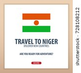 travel to niger. discover and... | Shutterstock .eps vector #728108212