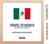travel to mexico. discover and... | Shutterstock .eps vector #728108272