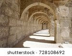 stone archway. ancient building. | Shutterstock . vector #728108692