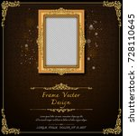 thailand royal gold frame on... | Shutterstock .eps vector #728110645