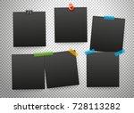 black frames isolated on... | Shutterstock .eps vector #728113282
