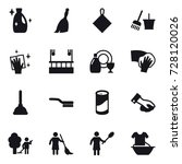 16 vector icon set   cleanser ... | Shutterstock .eps vector #728120026