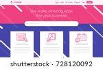 website template for websites ...   Shutterstock .eps vector #728120092