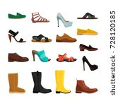 different casual shoes of men... | Shutterstock .eps vector #728120185