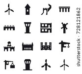 16 vector icon set   windmill ... | Shutterstock .eps vector #728121862
