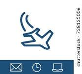 aircraft icon vector fat design ... | Shutterstock .eps vector #728125006