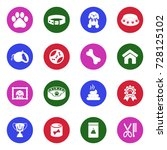 dog icons. white flat design in ... | Shutterstock .eps vector #728125102