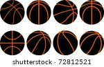 basketball ball 8 different...
