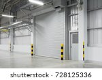 roller shutter door and... | Shutterstock . vector #728125336