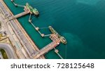 aerial view two tanker ship... | Shutterstock . vector #728125648