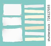 white and yellow ripped strips... | Shutterstock .eps vector #728127055