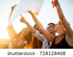group of cheerful smiling... | Shutterstock . vector #728128408