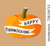 happy thanksgiving. vector... | Shutterstock .eps vector #728136712