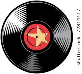 vector vinyl disc  record  | Shutterstock .eps vector #72814117
