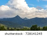 blue sky and grass mountains... | Shutterstock . vector #728141245