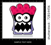 colorful monster on white... | Shutterstock .eps vector #72814456
