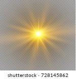 glow light effect. star burst... | Shutterstock .eps vector #728145862