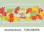 happy thanksgiving day... | Shutterstock .eps vector #728148496