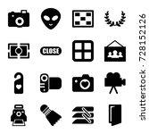 frame icons set. set of 16... | Shutterstock .eps vector #728152126