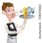 an illustration of a cartoon... | Shutterstock .eps vector #728153062