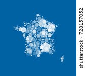 map of france filled with white ...   Shutterstock .eps vector #728157052