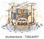 vintage drums | Shutterstock .eps vector #72816097