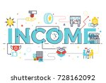 income word lettering... | Shutterstock .eps vector #728162092