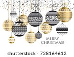 luxury gold abstract design... | Shutterstock .eps vector #728164612