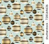christmas bauble decor vector... | Shutterstock .eps vector #728164636