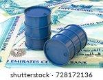 3d illustration  blue barrels... | Shutterstock . vector #728172136