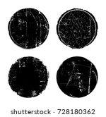 grunge textured round seal... | Shutterstock .eps vector #728180362
