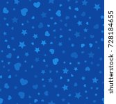 seamless pattern with hearts... | Shutterstock .eps vector #728184655