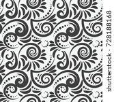 abstract monochrome pattern.... | Shutterstock .eps vector #728188168