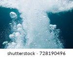 water with bubbles in ocean...   Shutterstock . vector #728190496