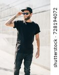 hipster handsome male model... | Shutterstock . vector #728194072