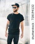 hipster handsome male model...   Shutterstock . vector #728194132