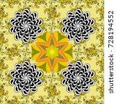 cute fabric pattern. flat... | Shutterstock . vector #728194552