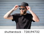 hipster handsome male model... | Shutterstock . vector #728194732
