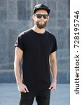 hipster handsome male model... | Shutterstock . vector #728195746