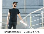 hipster handsome male model... | Shutterstock . vector #728195776