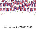 uk flags garland white... | Shutterstock .eps vector #728196148