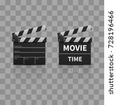 movie clapperboard or film... | Shutterstock .eps vector #728196466