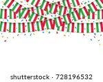 italy flags garland white... | Shutterstock .eps vector #728196532