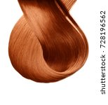 red dyed hair lock sample... | Shutterstock . vector #728196562
