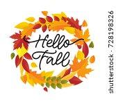 vector illustration  autumn... | Shutterstock .eps vector #728198326