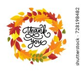 thanksgiving day greeting card. ... | Shutterstock .eps vector #728198482