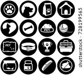 set of simple icons on a theme... | Shutterstock .eps vector #728199565